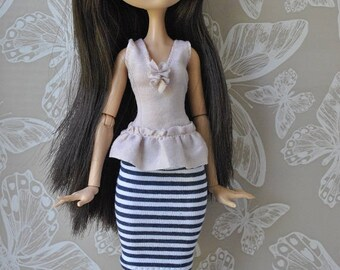 Handmade top and  skirt for Monster High,Ever After High dolls