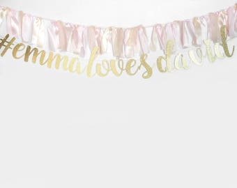 Glitter Hashtag Sign, Hashtag Banner, Photobooth Banner, Photo Booth Prop, Wedding Sign