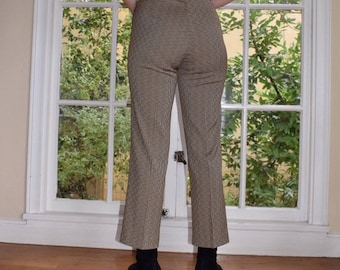Brown Hatched Trousers