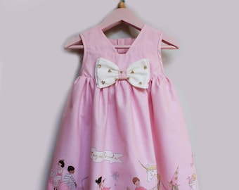 Ready to ship 12-18 months Pink Magical 1st Birthday Dress, Girl's Easter Dress, Pink Baby Dress,