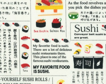 Lecien - Food Land Collection - Sushi News in White