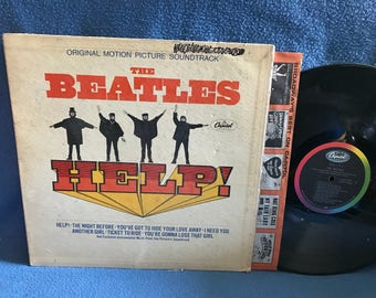 """RARE, Vintage, The Beatles - """"HELP"""" Vinyl LP, Record Album, Original First Press, The Fab Four, You're Gonna Lose that Girl, Ticket To Ride"""