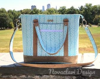 Natural Cork Leather Bluebell Handbag