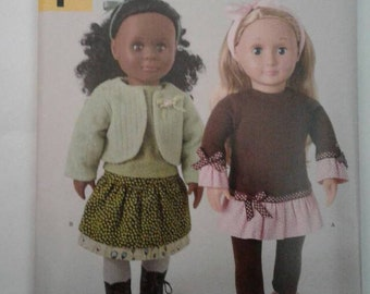 Simplicity Pattern A1273  Fits American Girl & other 18 inch dolls