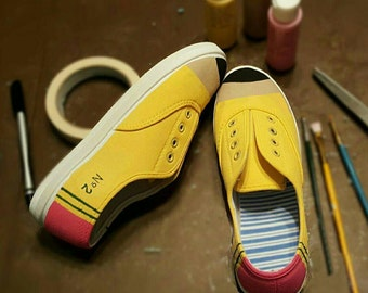 No. 2 Pencil Shoes - New! Dixon Ticonderoga Style - Fun and Unique Gift For Students & Teachers! Perfect for heading back to school!