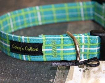 "Dog Collar, Dog Collars, Boy Dog Collar, Girl Dog Collar, Male Dog Collar, Custom Dog Collar, Plaid Dog Collar, ""The Pawsitively Plaid"""