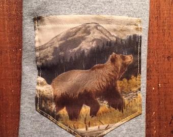 Mountain Bear Pocket Shirt S/M/L/XL/2x/3x