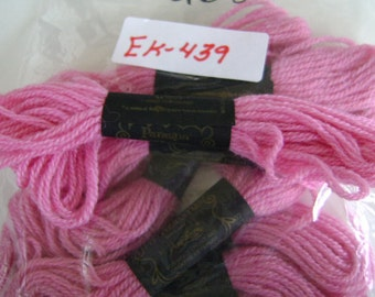 Yarn, Paragon, 100% Wool Crewel Needlepoint, Color #258 Dark Carnation, 8.8 Yds