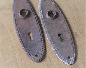 Antique Vintage Escutcheon Plates Old Door Plates Vintage Hardware