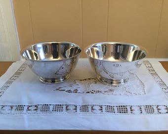 """Set of Two Onieda Paul Revere Reproduction Silver Bowls 6"""", 241"""