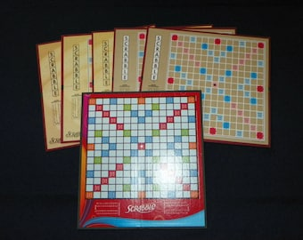 Scrabble Game Boards, Set of 6 Newer Boards,