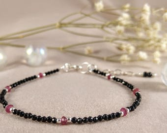 Bracelet with spinel & ruby