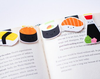 Sushi Magnetic Bookmarks (Mini 5 Pack)