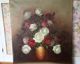 Pretty Floral Oil Painting on canvas