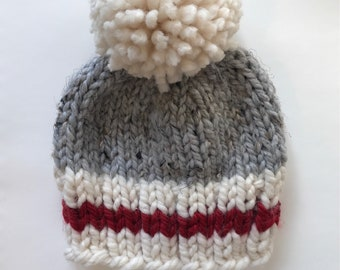Knit Beanie Sock Monkey Inspired Toque Hat | Windsor Falls | cabin hat
