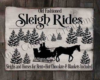 Old Fashioned Sleigh Rides  SVG, PNG, JPEG