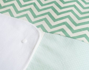 Cover for changing pad CHEVRON mint pastell
