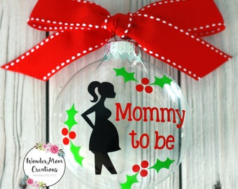 Mom To Be Personalized Ornament Personalized Mom To Be