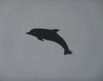 Cut Dolphin creation gray drawing paper
