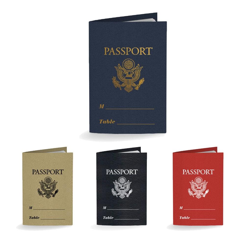 Passport Place Cards Escort Cards Wedding Favors Party Favors