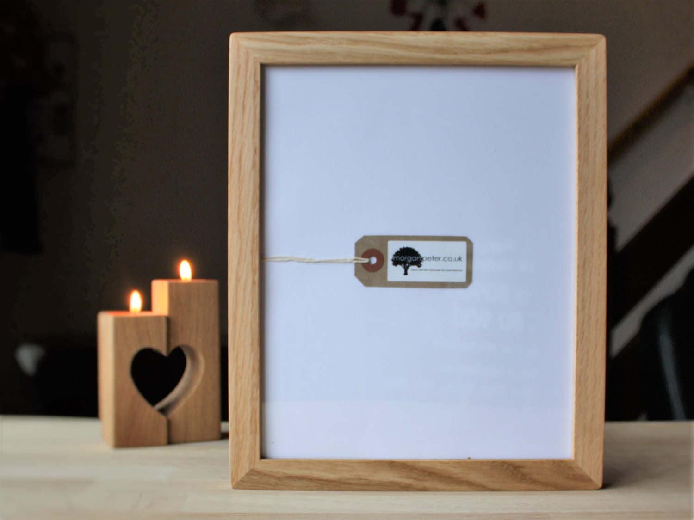 11x14 Oak frame - Wooden photo frame - for pics 14x11 - custom wood ...