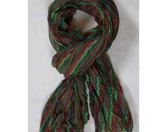 Man colorful striped scarf/shawl scarf