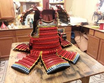 Japanese Samurai Armor, Do Maru Kebiki Odoshi lacing