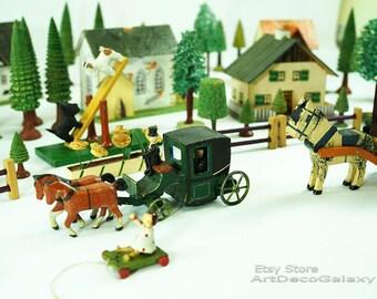 Antique Erzgebirge Putz Village- 51 pieces