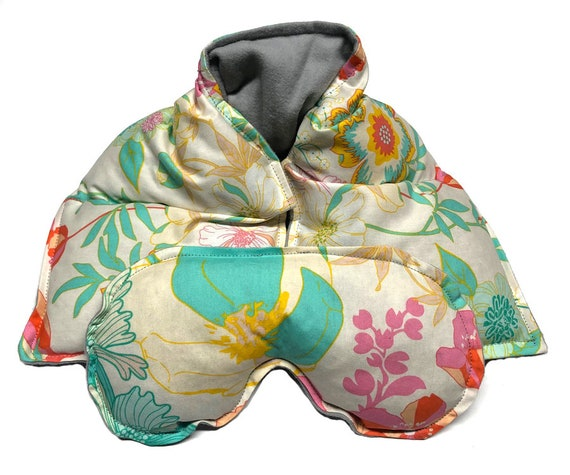 Heating pad neck and eye pillow, spa set, heat therapy rice bag, microwave heating pad, cold pack, aromatherapy