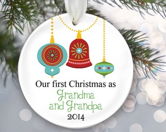 Our first Christmas as Grandma & Grandpa Nana and Papa Ornament Personalized Christmas Ornament Grandparents Ornament Christmas Gift OR244