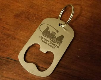 GRDR dog tag bottle opener