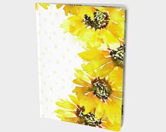 Idea Journal - Dream Notebook, Dot Grid Notebook, Journaling Notebook, Bullet Journal Notebook Blank Journal Sunflower Art on Notebook