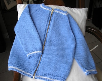 Knitted Childs Zippered Sweater