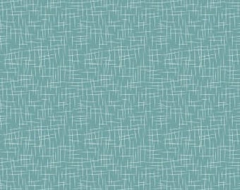 Teal Hashtag Fabric from Riley Blake