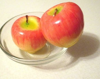 Craft Supplies, Candles, Fruit Candles, Apples, Wax Apples