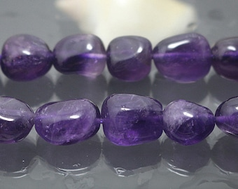 AA Natural Amethyst Quartz Nugget Beads, 15 Inch Full Strand ( 10x12mm 12x15mm )