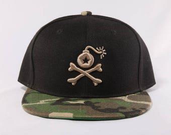 Stangl Bomb Logo Camo Print Snapback Hat