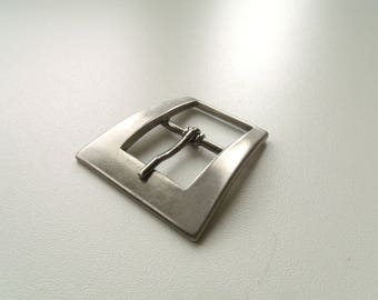 Belt buckle and/or strap silver blackened matte 4 cm * 2 cm * 4.3 cm