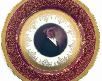Portrait of Brutus - Altered Vintage Plate 10.75""