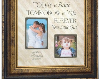 Personalized Wedding Thank You Gift for Dad, Today A Bride Tomorrow A Wife Forever Your Little Girl, Thank You Gift For Parents, 16x16