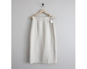 linen wrap skirt / linen skirt / high waist linen skirt