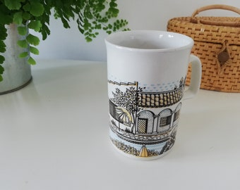 Vintage Ashdale England pottery coffee / tea cup