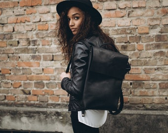 Hipster Rucksack Leather Rucksack MacBook Leather Bag Leather Weekend Bag School Backpack Leather Rucksack Bag Laptop Backpack Leather Bag