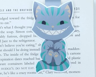 Cheshire Cat - JUMBO magnetic bookmark - Alice in Wonderland || book lover gifts | lewis carroll | bookmark | bookish | bookmarks