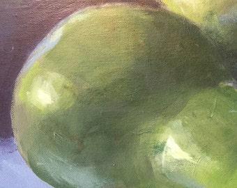"""Original OIL on canvas """"LES POIRES"""""""