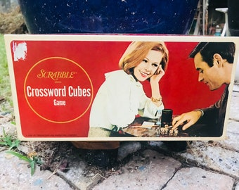 Vintage Scrabble Cross Cubes Games