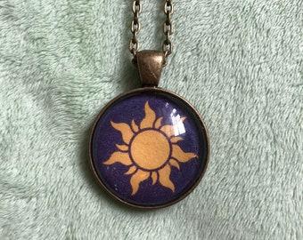 Sun Necklace Pendant