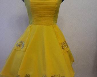Enchanting beauty disneybound dress / cosplay costume beauty and the beast / ballgown yellow