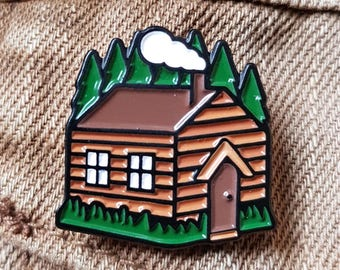 Cottage Cabin Enamel Pin Lapel Pin Badge Adventure Pin by OR8 DESIGN