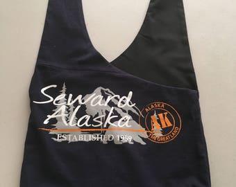 Handmade Upcycled Seward Alaska Hobo Shoulder Purse